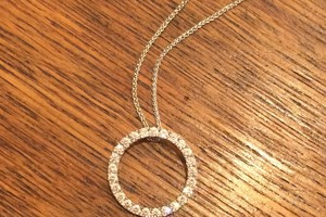 Handmade diamond set pendant in 18ct white gold by charmian beaton design