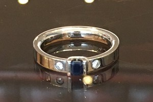 handmade sapphire and diamond remodel by charmian beaton design