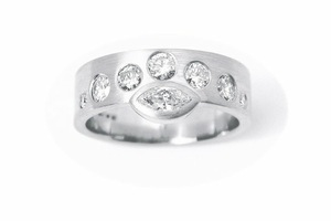 Platinum & diamond ring by multi-award winning Charmian Beaton