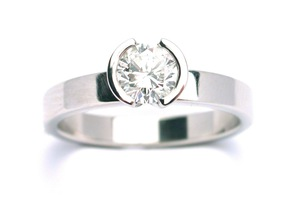 bespoke .50ct diamond engagement ring in platinum by charmian beaton design