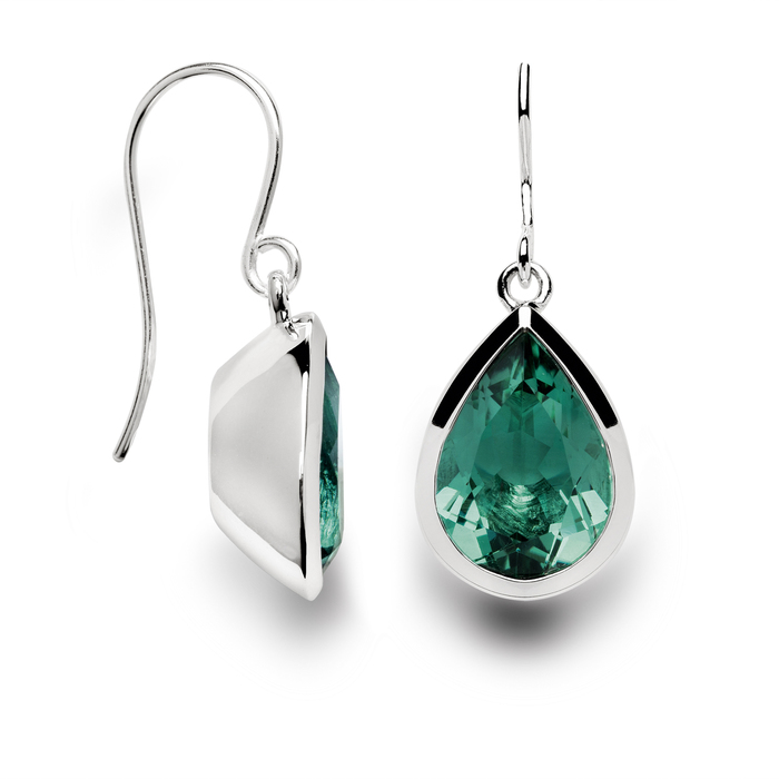 Stunning green amethyst drop earrings