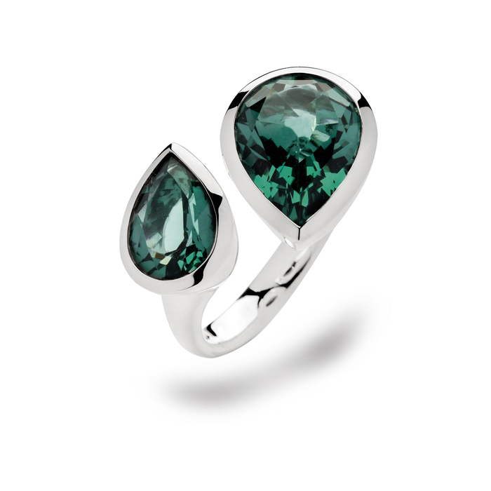 Amazing green amethyst cocktail ring
