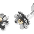 Silver flower studs by Linda Macdonald