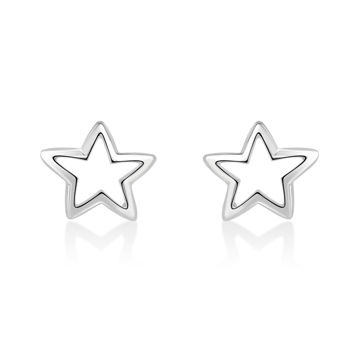 Narcisa Star, large star statement stud earrings.
