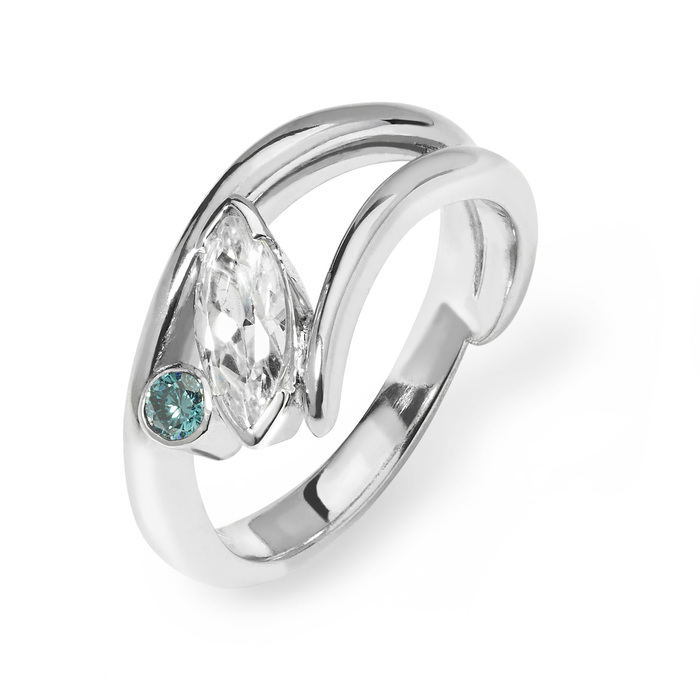 Amelie - platinum & diamond engagement ring