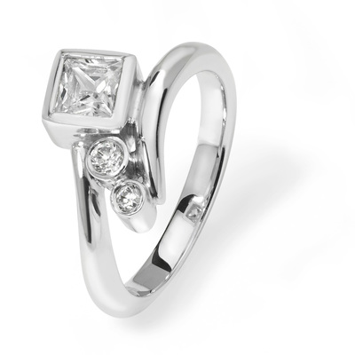 Jasmine - contemporary 0.50ct diamond engagement ring